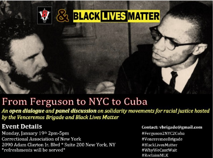 From Ferguson to NYC to Cuba flyer